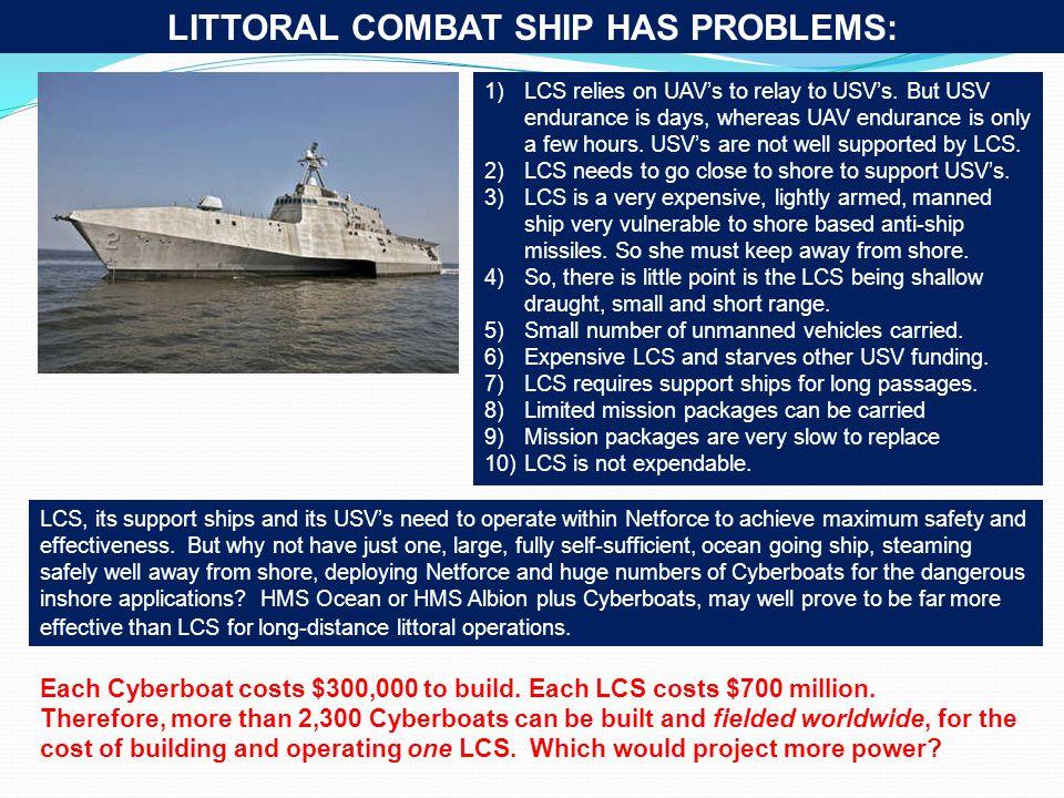 LITTORAL COMBAT SHIP HAS PROBLEMS: