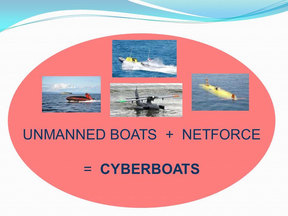 UNMANNED BOATS + NETFORCE = CYBERBOATS