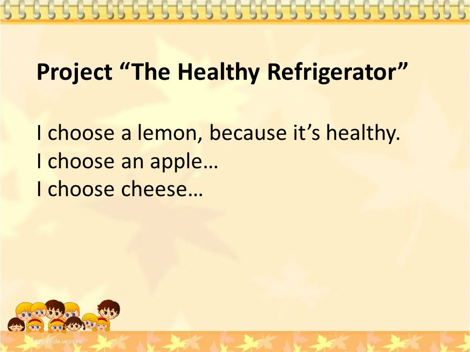 Project The Healthy Refrigerator