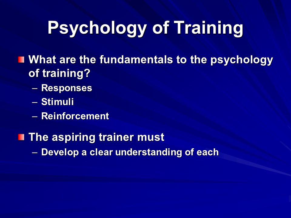 Psychology of Training