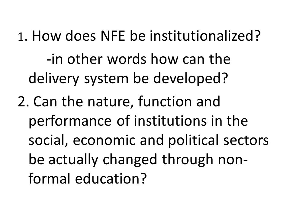 -in other words how can the delivery system be developed