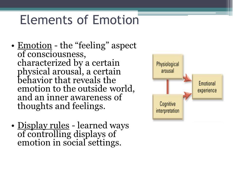 Elements of Emotion