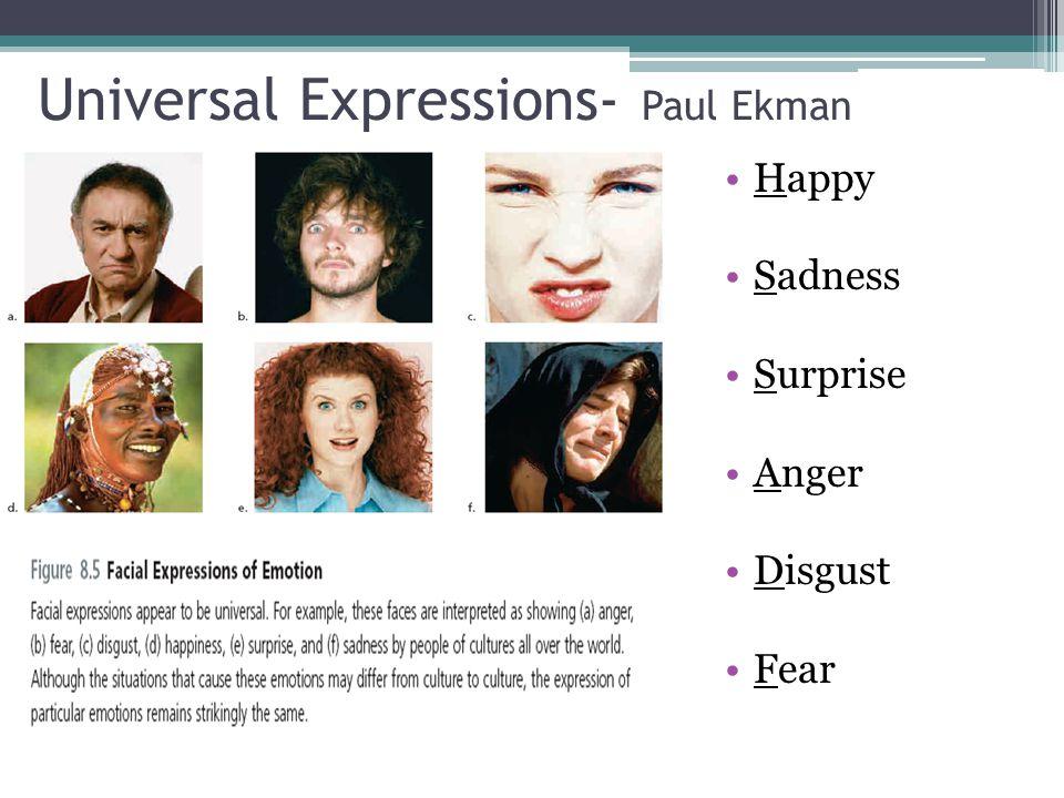Universal Expressions- Paul Ekman