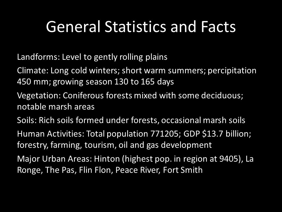 General Statistics and Facts