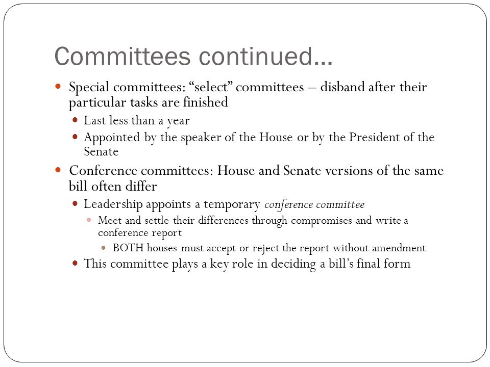 Committees continued…