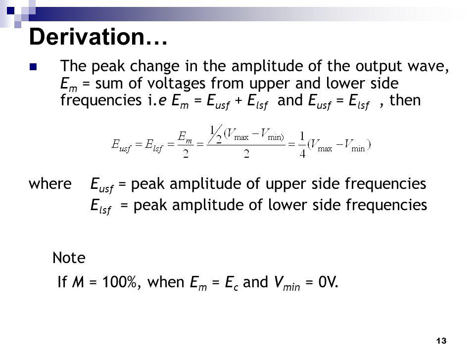 Derivation…