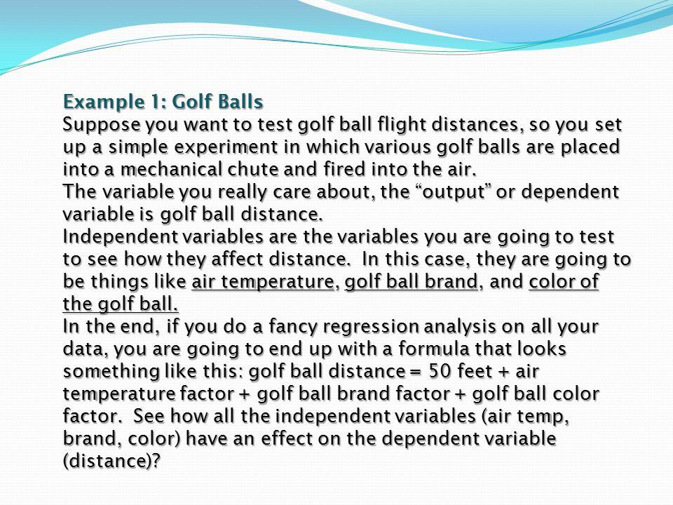 Example 1: Golf Balls