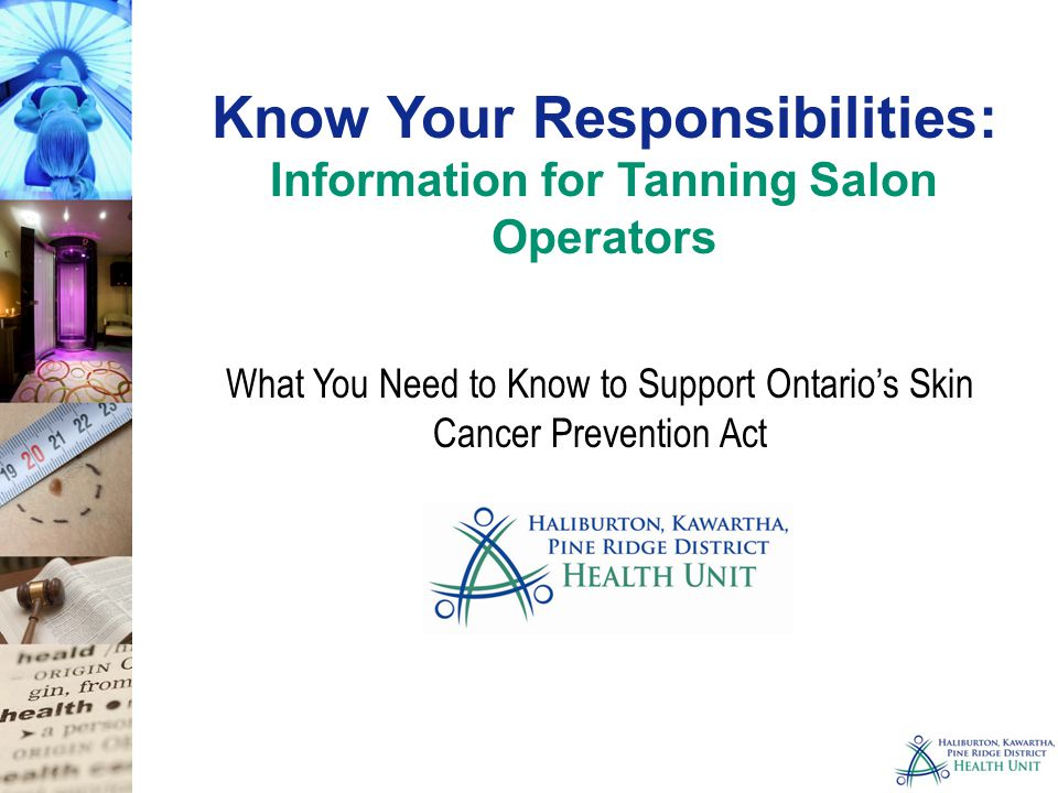 Know Your Responsibilities: Information for Tanning Salon Operators