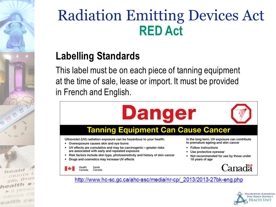 Radiation Emitting Devices Act RED Act