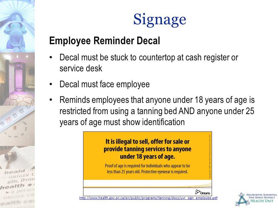 Signage Employee Reminder Decal