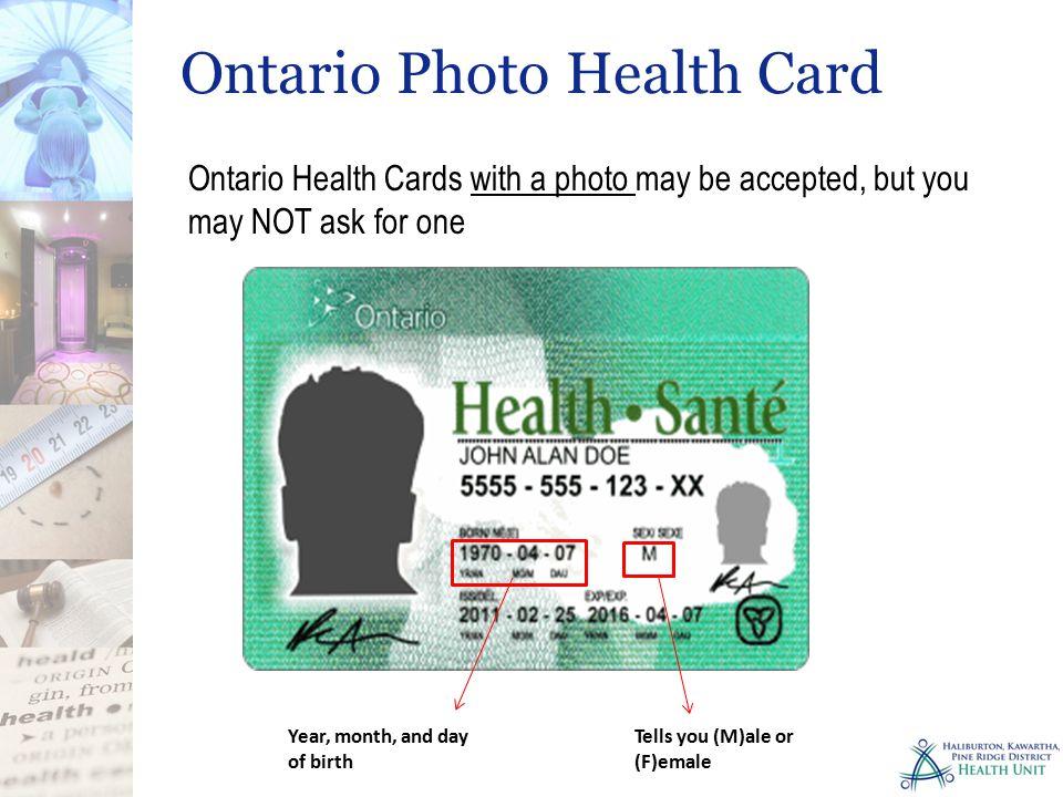 Ontario Photo Health Card