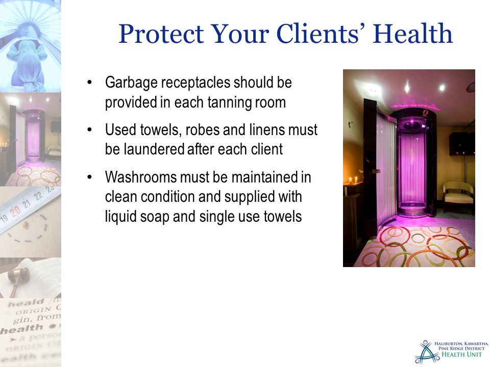 Protect Your Clients' Health