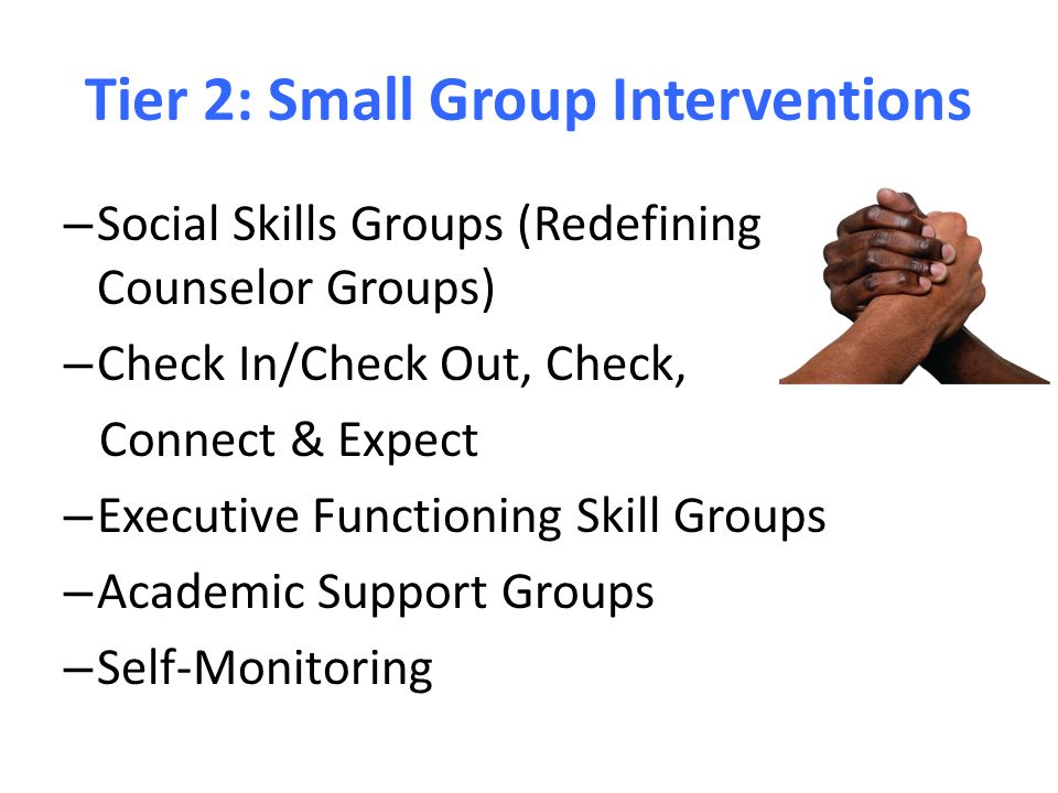 Tier 2: Small Group Interventions