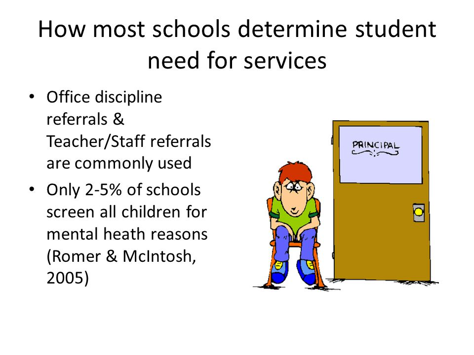 How most schools determine student need for services