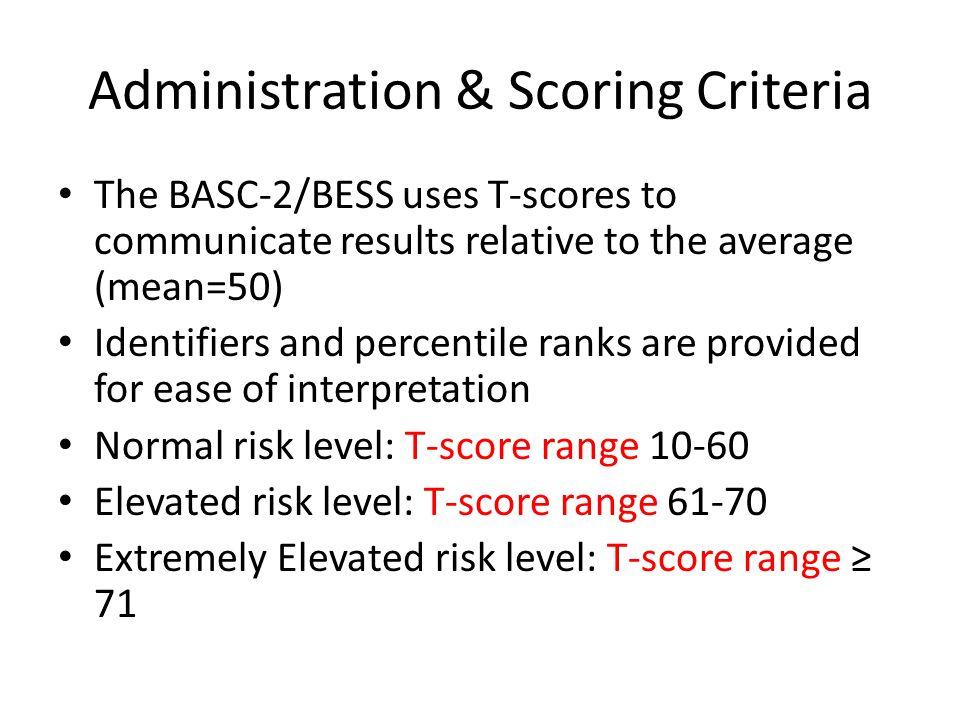 Administration & Scoring Criteria