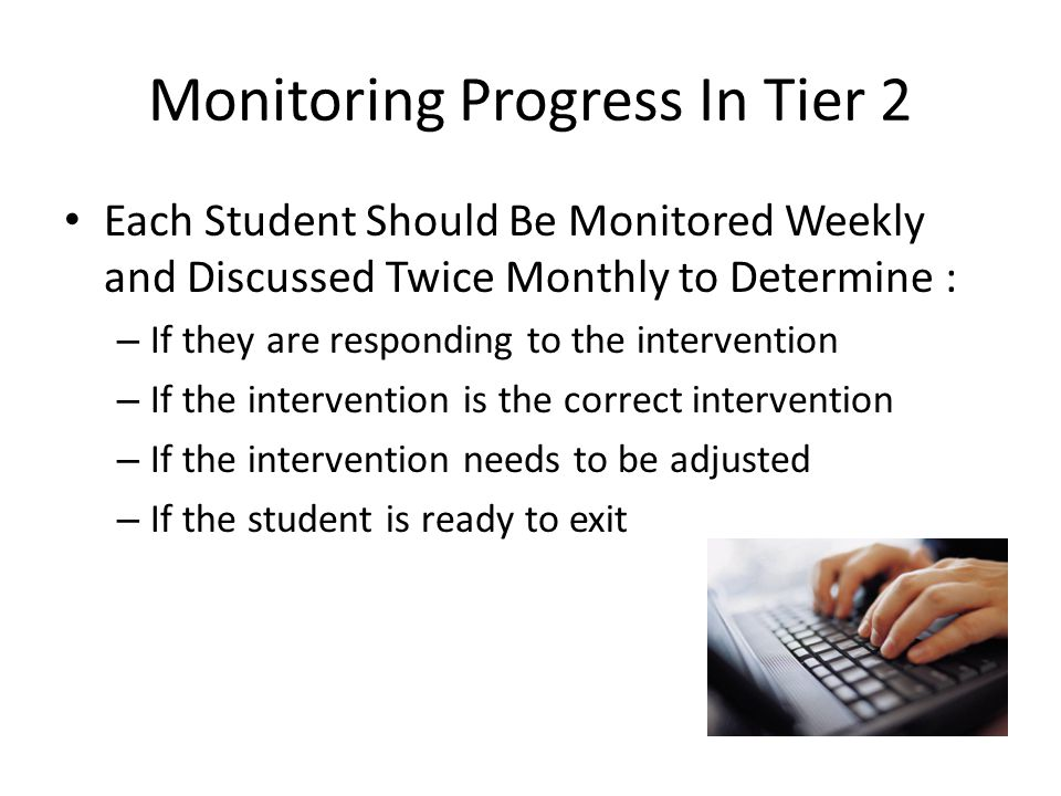 Monitoring Progress In Tier 2
