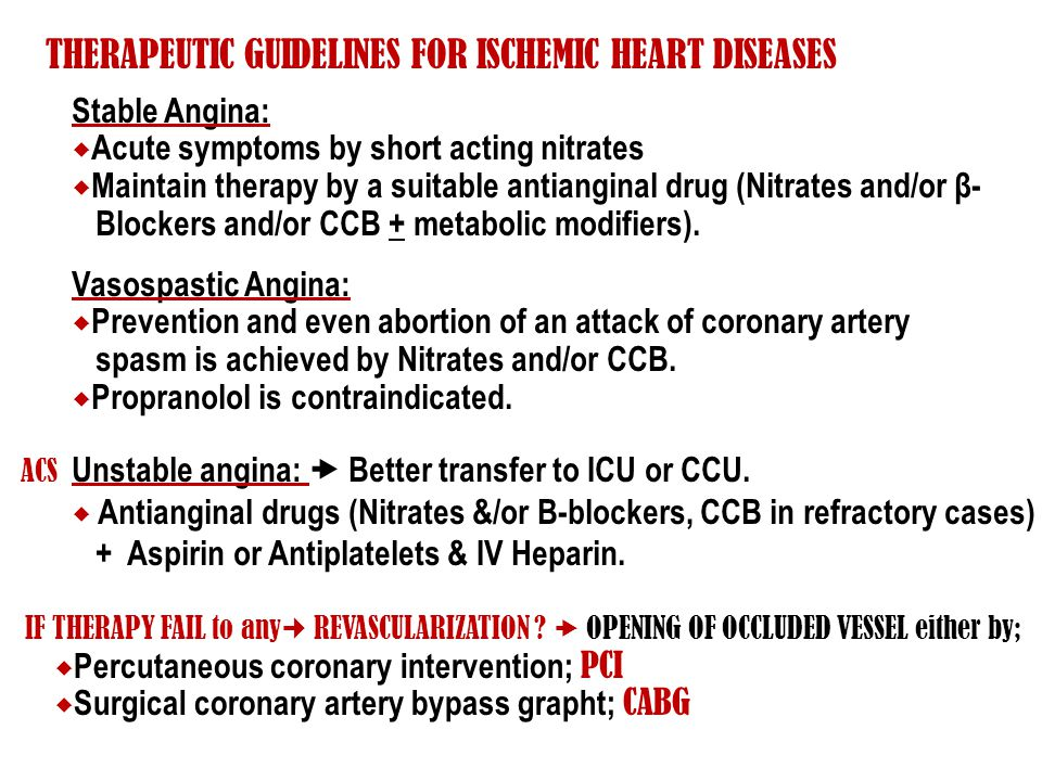 THERAPEUTIC GUIDELINES FOR ISCHEMIC HEART DISEASES