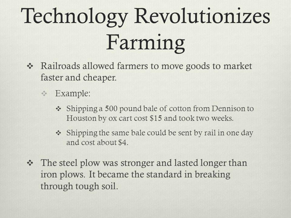 Technology Revolutionizes Farming