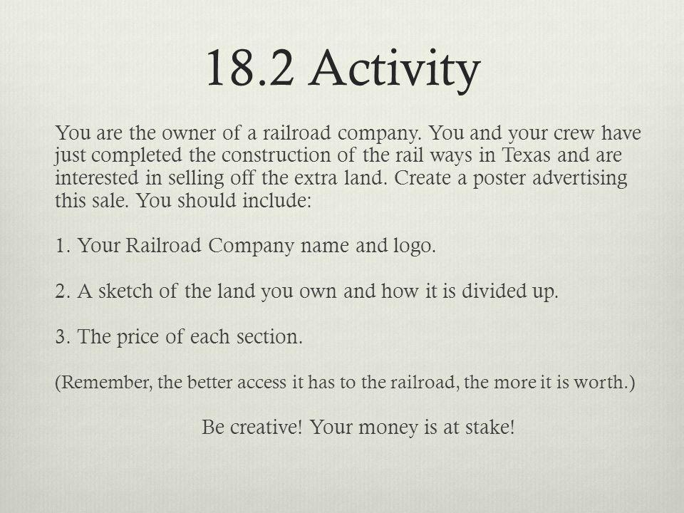 18.2 Activity