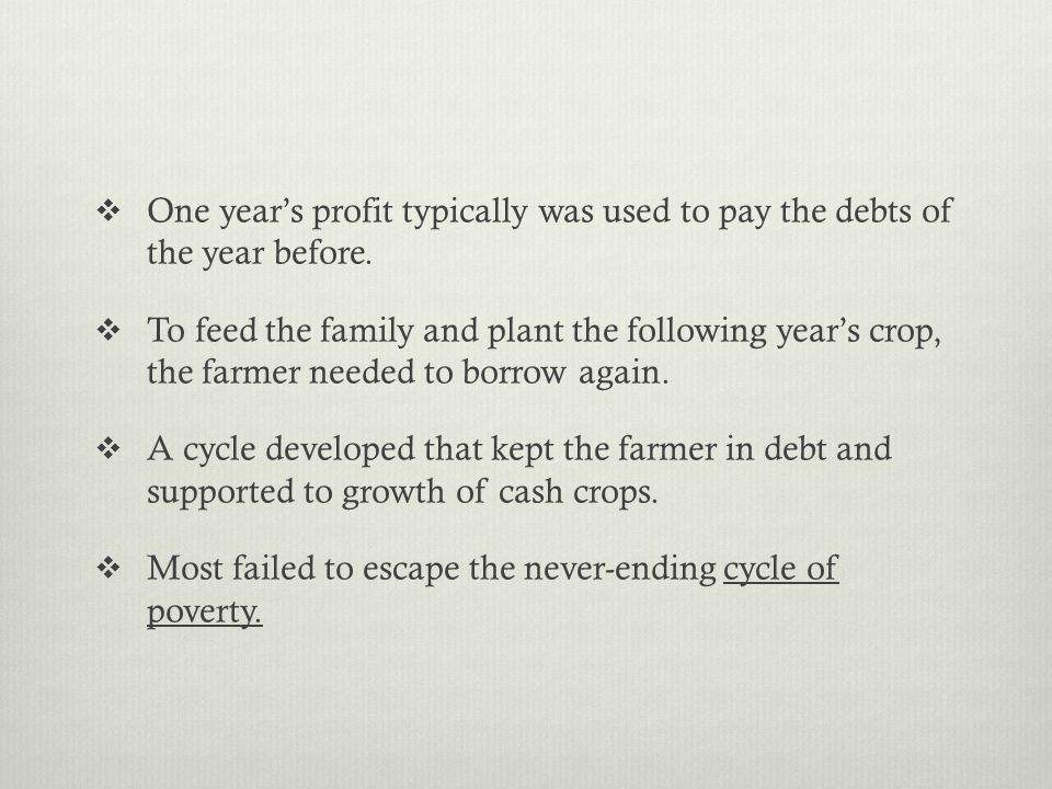 Most failed to escape the never-ending cycle of poverty.