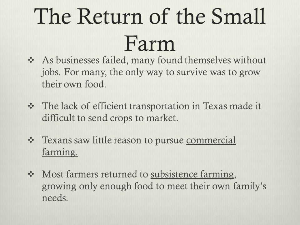 The Return of the Small Farm