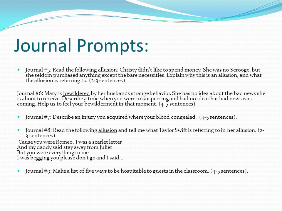 Journal Prompts: