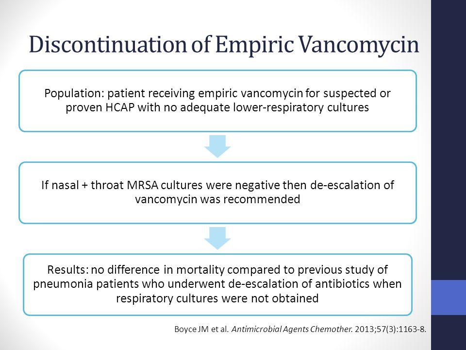 Discontinuation of Empiric Vancomycin