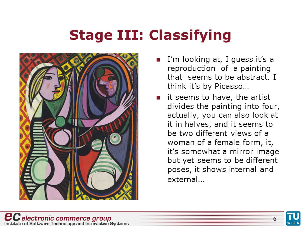 Stage III: Classifying