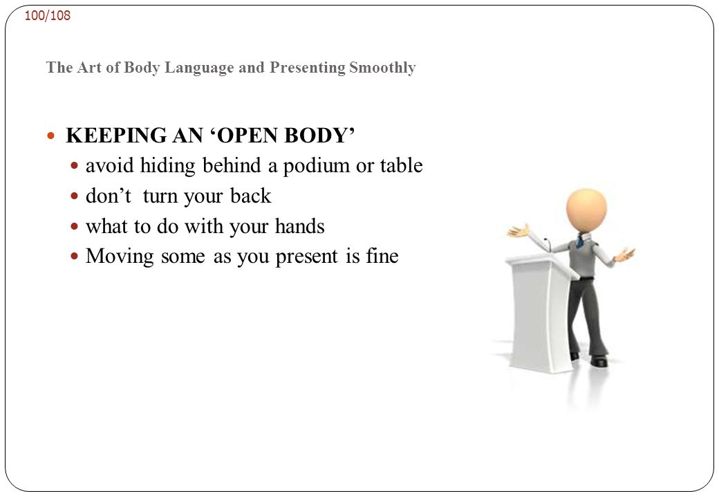 The Art of Body Language and Presenting Smoothly