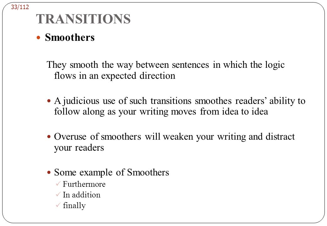 TRANSITIONS Contradictors
