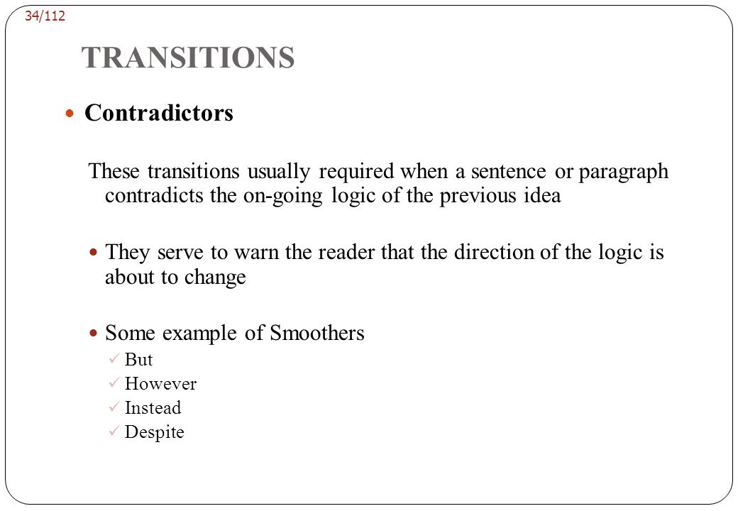 TRANSITIONS Explainers