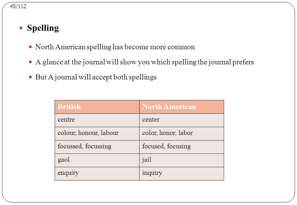 Style American English tends to be more informal than British English