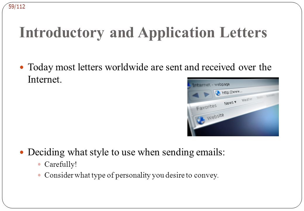 Introductory and Application Letters