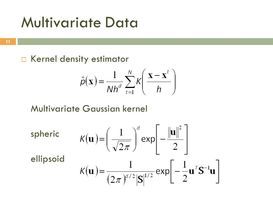 Multivariate Data Kernel density estimator