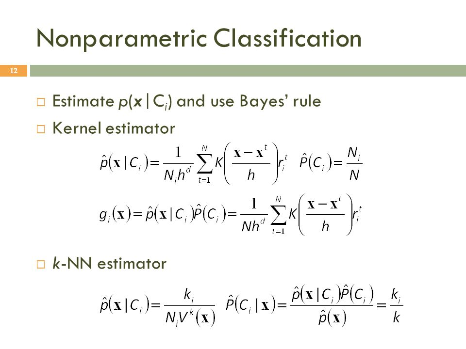 Nonparametric Classification