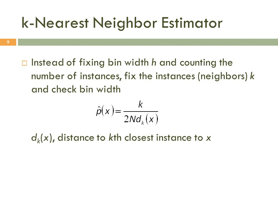 k-Nearest Neighbor Estimator