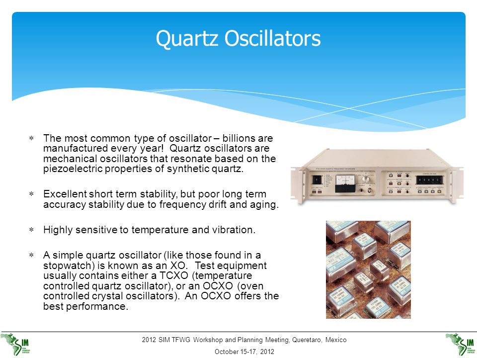 Quartz Oscillators