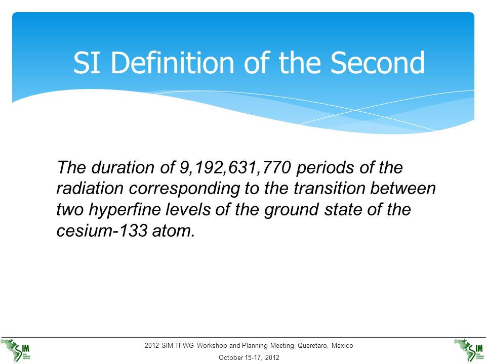 SI Definition of the Second