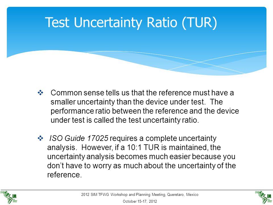 Test Uncertainty Ratio (TUR)