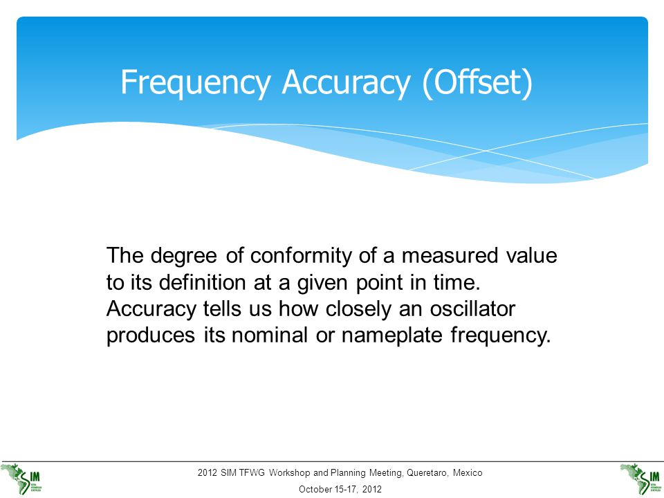 Frequency Accuracy (Offset)