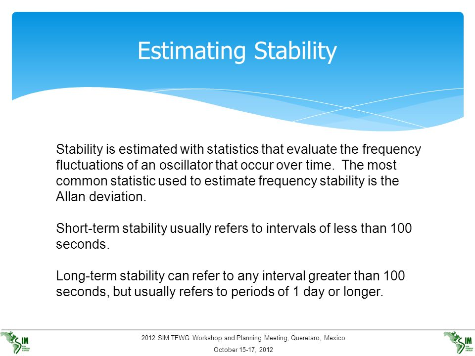 Estimating Stability