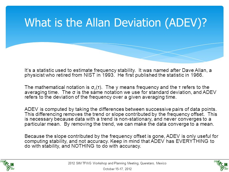 What is the Allan Deviation (ADEV)