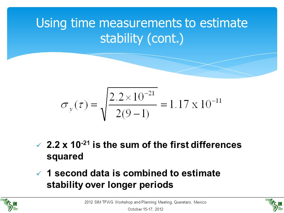 Using time measurements to estimate stability (cont.)