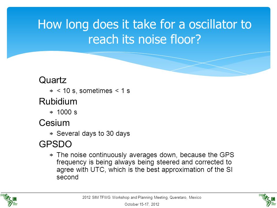 How long does it take for a oscillator to reach its noise floor