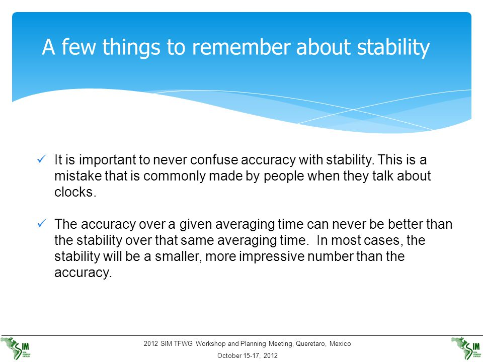 A few things to remember about stability