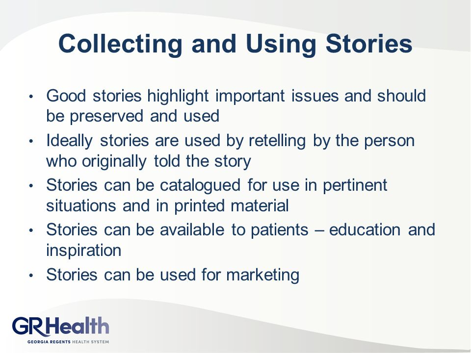 Collecting and Using Stories