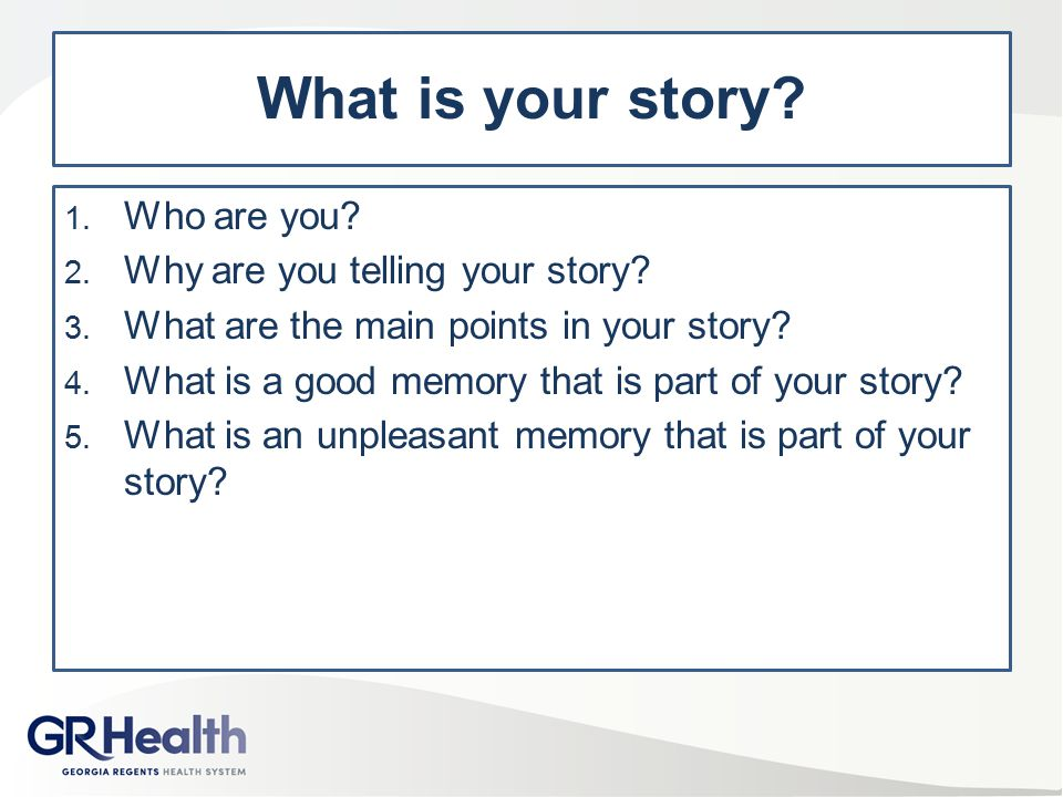 What is your story Who are you Why are you telling your story