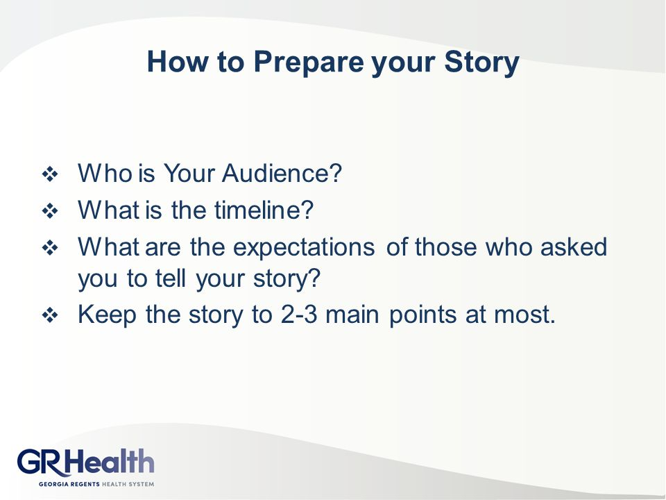 How to Prepare your Story