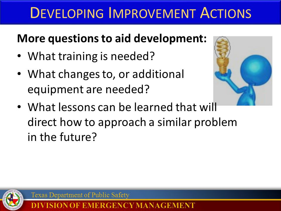 Developing Improvement Actions