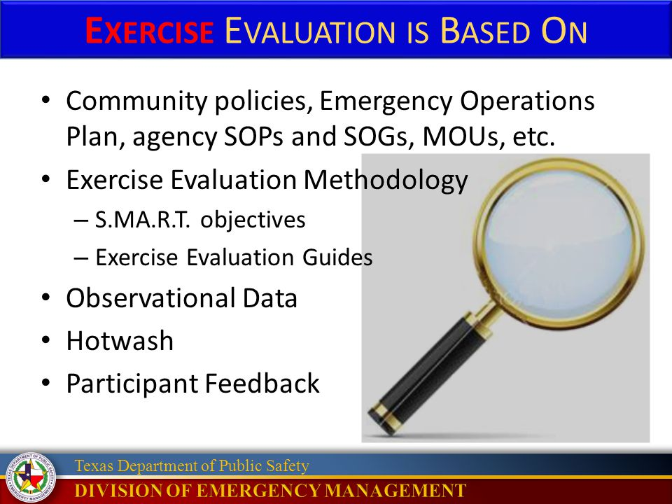 Exercise Evaluation is Based On